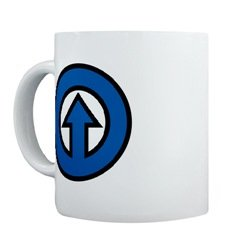 Blue Arrow Mug