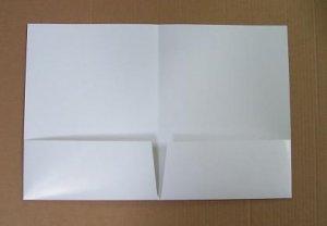 100 white gloss 10 pt. presentation folders