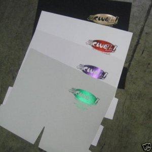 250 White Coated Presentation Folders, Custom Foil Stamp