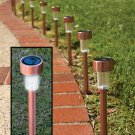 10 Piece Copper Finish Stainless Steel Solar Light Set