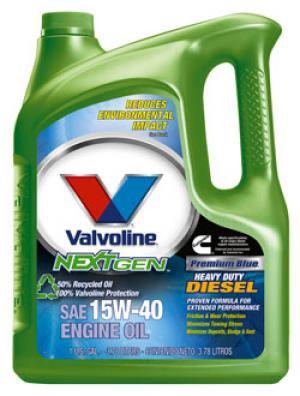 Valvoline NextGen� 10W-40 50% Recycled Motor Oil(5.1 quarts)