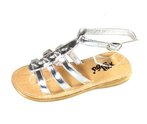 Girl's (Infants) Gladiator Silver Sandals