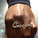 Queen 2-finger Ring (Brass)