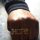 Hope 2-Finger Ring (Brass)