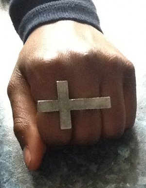 Cross 2-finger Ring