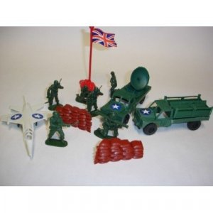 New plastic toys vintage military force soldier figures