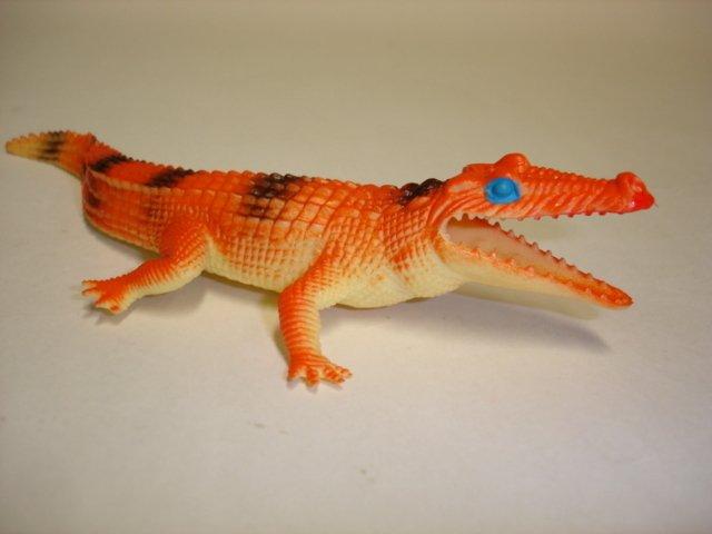 Vintage plastic toy alligator crocodile figure