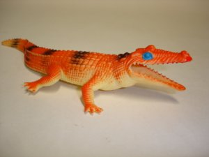 Vintage plastic toy alligator crocodile figure
