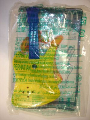New 2009's Mcdonald's toy Beat Star plastic Bass Guitar