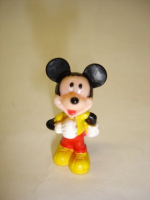 Used mini Disney Mickey Mouse plastic figure