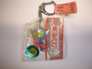 New 1997's Yutaka Ultraman Taro hard plastic figure keychain,made in Japan