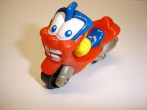 Used cute lovely RUMBO motorcycle diecast plastic model