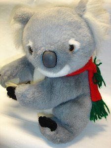 "Used cute 10"" tall Koala bear stuffed toy plush doll figure"