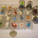 Used cute lot of 22 PCs mini robot car train etc.figures plastic diecast models