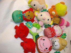 "Used 10 Happy RURU 2.5""-6.5"" rabbit bear monkey etc.stuffed plush doll figure"