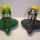 "New cute pull back toy Keroro Gunso Keroro Tamama 3.25"" plastic figure"