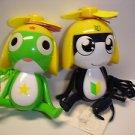 "New cute 2 Keroro Gunso Tamama Keroro 4"" tall plastic figure hand handy fan"