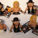 Lot of 6 WWE Wrestling Ultimate Thumb Wrestler soft plastic action figures