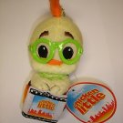 "Used cute 6"" tall Disney Chicken Little plush stuffed doll figure charm"