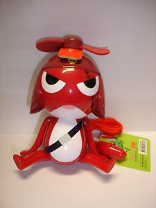 "New Keroro Gunso Giroro 4"" tall plastic figure hand handy fan"