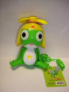"New Keroro Gunso Keroro 4"" tall plastic figure hand handy fan"
