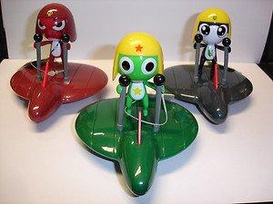 "3 pull back toys Keroro Gunso Keroro Tamama Giroro 3.25"" flying board figures"