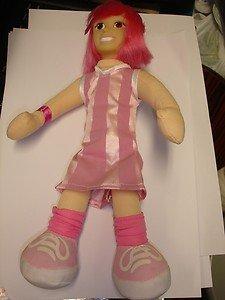 "Used Simba Lazy Town Stephanie 12"" tall stuffed plush doll figure"