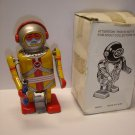 "Used & not working 4.5"" tall Astronaut wind up tin toy robot"