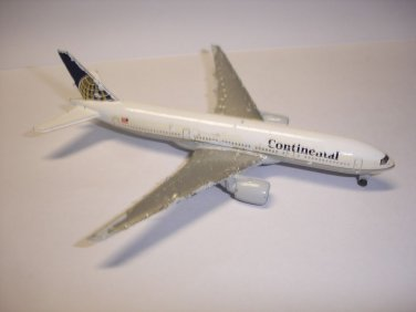 Used Schabak Continental Boeing 777 metal plane aircraft diecast model