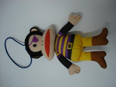Used cute HK 7-11 Paul Frank stuffed plush doll figure charm mascot #1