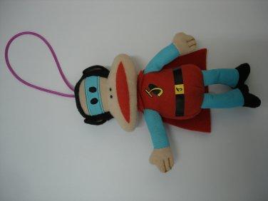 Used cute HK 7-11 Paul Frank stuffed plush doll figure charm mascot #5