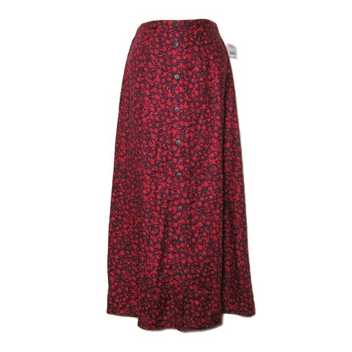 New TALBOTS Pretty Red/ Blue Floral Skirt- Size 8 Petite 8P