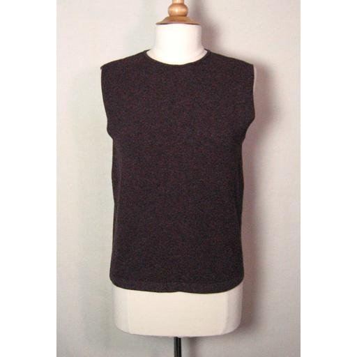 Reddish Brown ELLEN TRACY Silk-Blend Vest/ Top- L