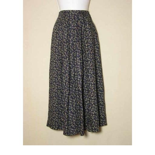 Lovely TALBOTS Navy Print Skirt - Size 4
