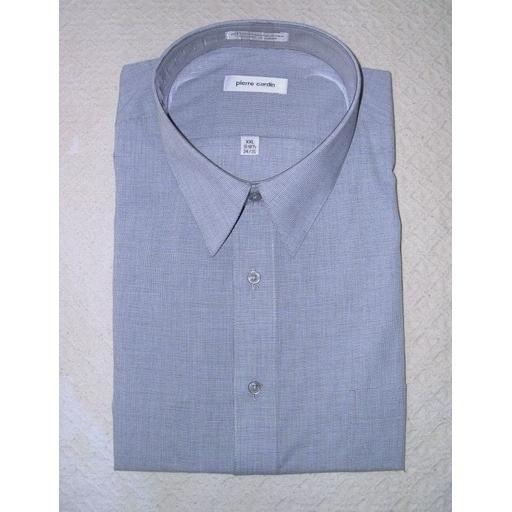 New Gray PIERRE CARDIN LS Dress Shirt: 18- 18.5 XXL