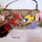 AUTHENTIC COACH SIGNATURE APPLIQUE FISH DEMI PURSE 1491 NWT LIMITED EDITION