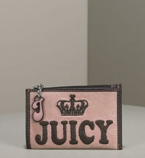 Juicy Couture Velour Drop-In Key Purse Pink NWT