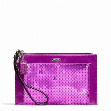 Coach Sequin Party Clutch Wristlet Bag F49887