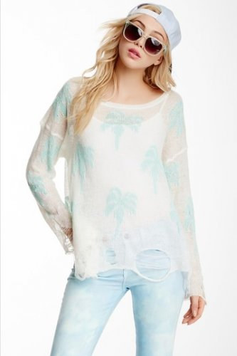 Wildfox Couture Santa Barbara Lennon Sweater SMALL