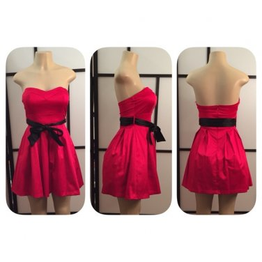 Hot Pink/Black Sex & the City Cocktail Party Dress