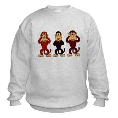 Three Monkeys Sweatshirt