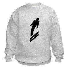 Snow Ski Silhouette Sweatshirt