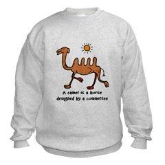 Horse by Committee Camel Sweatshirt