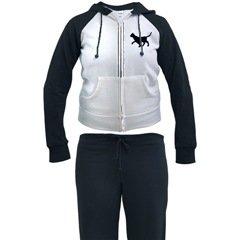 Cat Silhouette Woman Womans Jogging Suit