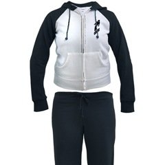 Woman Woman's Jogging Track Suit Sweat Pants & Shirt Ski Design