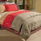 MicroSuede Camel Color Twin Down Comforter Set