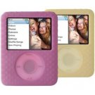Belkin Textured Silicone Sleeve Case iPod nano 3G 3rd Generation 4GB/8GB Video Yellow Pink (2 Pack)