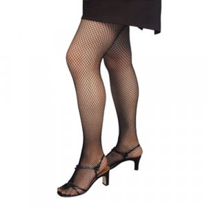 Black Fishnet Tights Pantyhose Seamless Adult -One Size