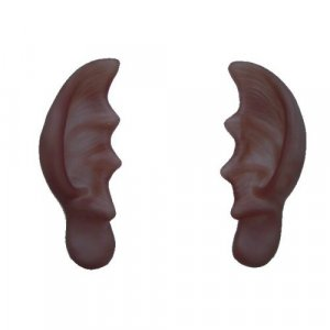Flesh Colored Pointed Ears Big Large Comical Gag Halloween Costume Accessory
