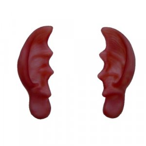 Red Pointed Ears Big Large Comical Gag Devil Costume Accessory